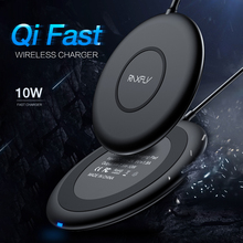 RAXFLY Waterproof Phone QI Wireless Charger For iPhone X 8 Plus Fast Charging Samsung S10 S9 S8 Desktop Stand USB