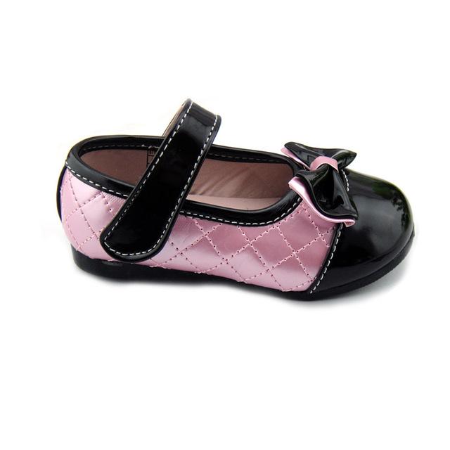 Envío gratis 2016 Niños Niñas 2-5 Años Femeninos Princesa Zapatos de Bebé Calzado Zapatos de Los Niños Primeros Caminante Con arco