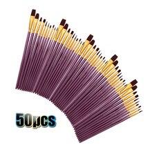 Bộ 50 Lông Nylon Bút Lông Bộ Nghệ Sĩ Bút Lông Rất Nhiều Nhiều Môi Dành Cho Bút Màu Nước Gouache Tranh Sơn Dầu Vẽ