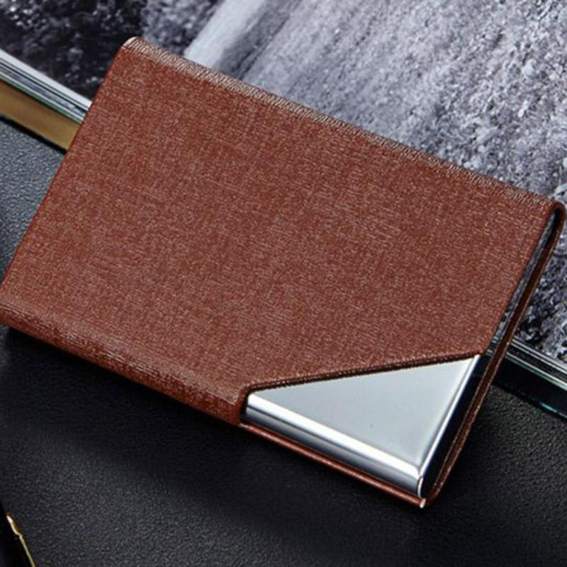Business ID Credit Card Holder Men Women Automatic Card Sets Metal ...