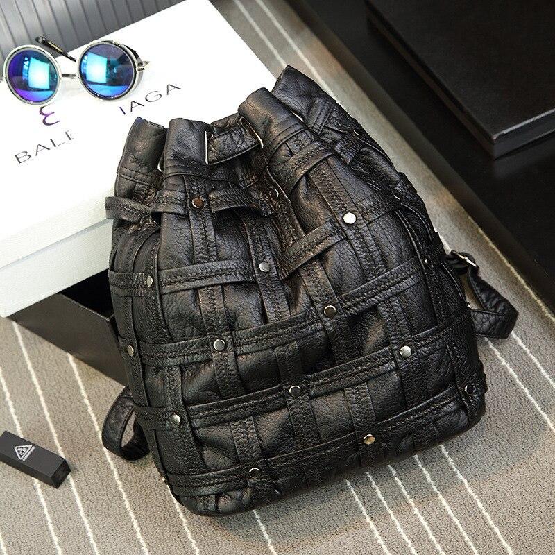 ФОТО Women Fashion Backpack Travel Backpack Mochilas School Leather Business Bag Large Shopping Travel Bag