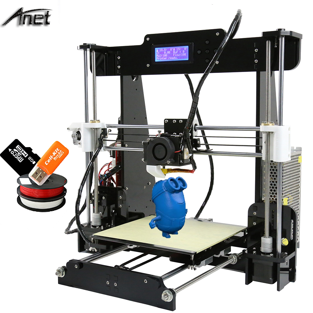 2017 New!! Auto Level&Normal A8 Reprap Prusa i3 DIY 3D Printer Kit with Filament SD Card Video ,LCD Tools Gift
