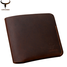 COWATHER Fashion Crazy horse leder brieftaschen für männer 2016 kreuz 100% kuh leder männliche handtasche 120 carteira masculina kostenloser versand