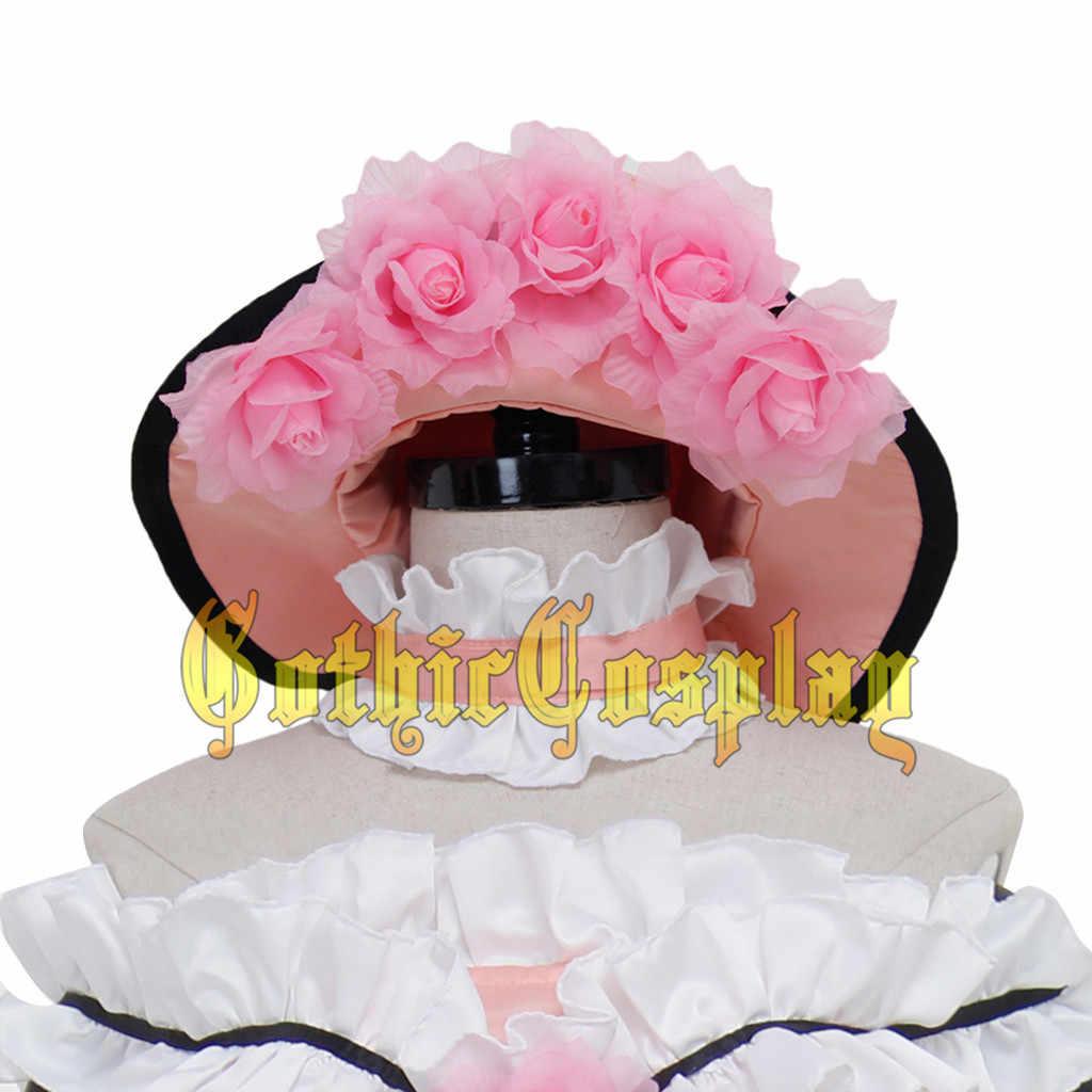 Cosplaydiy Anime negro Butler Shire Cosplay Vestido Mujer adulto Halloween Lolita Cosplay disfraz hecho a medida