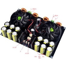 Assembled TDA8954 420W + 420W TDA8954TH 2.0 2200UF*12 Class D Digital Power AMP Amplifier Board w/ Fan Cooling YJ tda8954th class d high power dual channel digital audio amplifier board 420w x 2