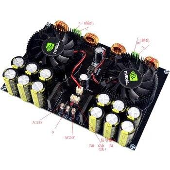 цены Assembled TDA8954 420W + 420W TDA8954TH 2.0 2200UF*12 Class D Digital Power AMP Amplifier Board w/ Fan Cooling YJ