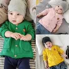 Bébé Garçons Chandail Outwear Chandail Tricoté Manteau pour Filles À Manches Longues Crochet Nourrissons Bébé Casual V-cou Enfants Cardigans Tops