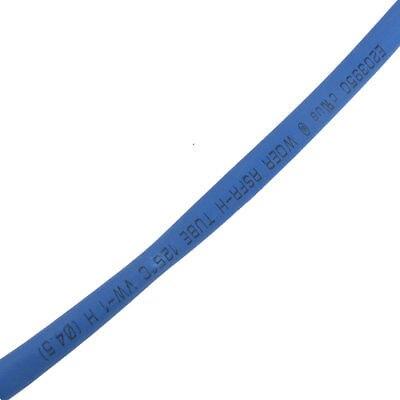 Ratio 2:1 4.5mm Dia Blue Polyolefin Heat Shrinkable Tube 20M Long clear 2 1 ratio 1m 3 3ft 2mm dia heat shrinkable tube 19 pieces