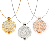 Newest Pendant Necklace Set Ireland Design 33mm My Coin Fit 35mm Crystal Coin Holder Plus 80cm