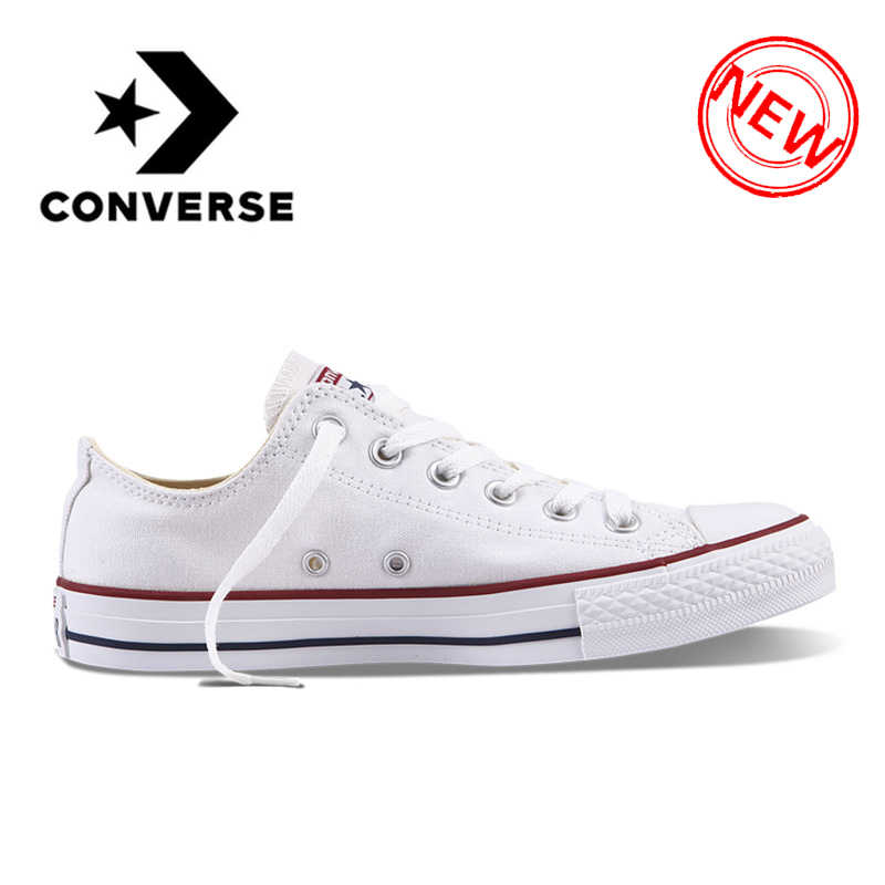 0a59228ee22 Original Converse ALL STAR Classic Breathable Canvas Low-Top Skateboarding  Shoes Unisex Authentic New Version