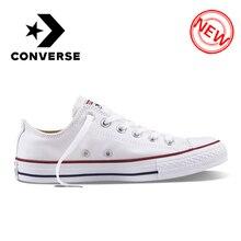 ce77e06248 Original Converse ALL STAR Clássico sapatos de Lona Respirável Baixo-Top  Sapatos de Skate Unisex Autêntica Nova Versão Tênis par.