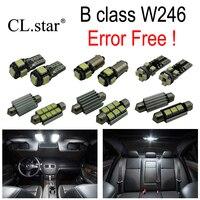 17pcs LED license plate bulb interior light Kit For Mercedes For Mercedes Benz B class W246 B160 B180 B200 B220 B250 B260 2012+