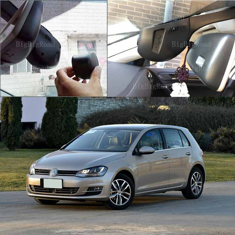 BigBigRoad For vw golf 7 2014 2010 2011 2012 Car Driving Video Recorder hidden Type Car wifi DVR Car black box Dashcam hot sale abs chromed front behind fog lamp cover 2pcs set car accessories for volkswagen vw tiguan 2010 2011 2012 2013