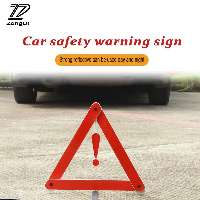 ZD Наклейки для автомобиля для Alfa Romeo BMW E46 E39 E36 E90 Audi A3 A6 C5 A4 B6 B8 Светоотражающие Треугольники Детская безопасность остановить Предупреждение з...
