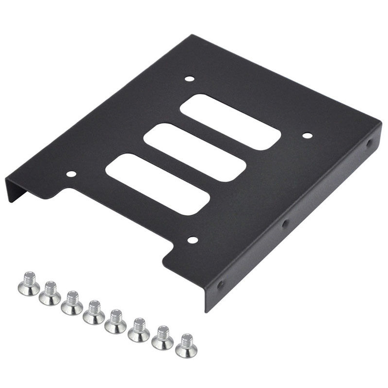 2.5 to 3.5 SSD HDD Metal Adapter Mounting Bracket Hard Drive Holder for PC hot sale 1pc hard disk drive mounting bracket kit for playstation 3 ps3 slim cech 2000 fw1s for ps3 slim hard drive bracket