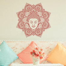 Mandala Wall Sticker Ritual Object Bohemian Decals Removable Flower Wallpaper Home Decoration Accessaries AY059