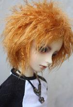 BJD Doll Fur Wig orange short curly hair wigs for 1/3 1/4 BJD DD SD MDD MSD Uncle doll fur wigs doll accessories(China)