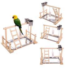 Попугаи игровой стенд птица игровая площадка деревянный окунь тренажерный зал стенд игрушечные лестницы упражнения Playgym Conure Lovebirds
