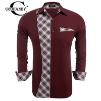 COOFANDY 2017 Spring Autumn Male Casual Shirt Men Brand Clothing High Quality 98 Cotton Long Sleeve