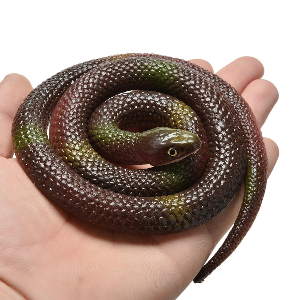 Gift Tricky  Novelty Halloween Funny Spoof Toys Simulation Soft Scary Fake Snake Horror Toy For Party Event