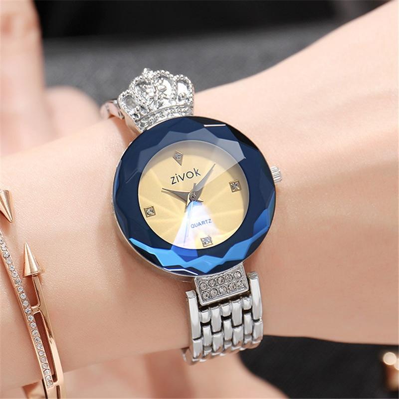 zivok luxe dames armband horloges rose goud mode quartz polshorloge - Dameshorloges - Foto 3