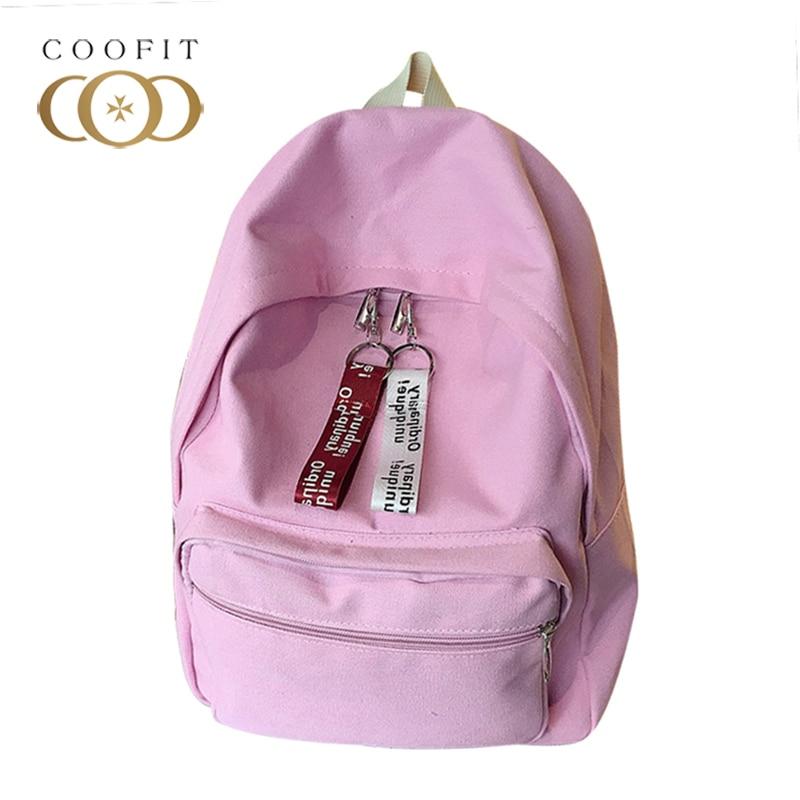 Signora Per Semplice pink Della Green Travel Le Canvas Di Bag Schoolbag tasche blue gray Coofit Casual Zaino Donne Multi Ragazze Femminile black Moda Student Spalla xZISqPF