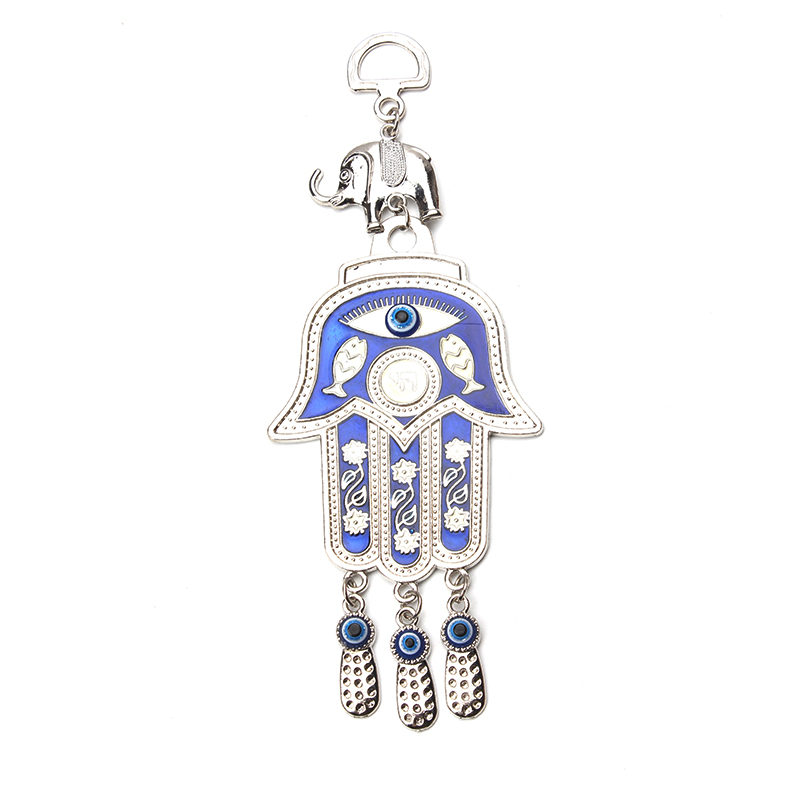 Lucky Eye Hamsa Hand Keychain Car Keyring Evil Eye Fatima Hand Tassel Wall Hanging Ethnic Style Fashion Jewelry Gifts 22*9cm Key Chains