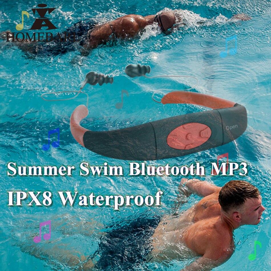 IPX8 Waterproof ( 268 Bluetooth 4.0 ; 168 4GB 8GB MP3 Player FM Radio ) Swimming Diving Underwater Sport Stereo Earphones Music