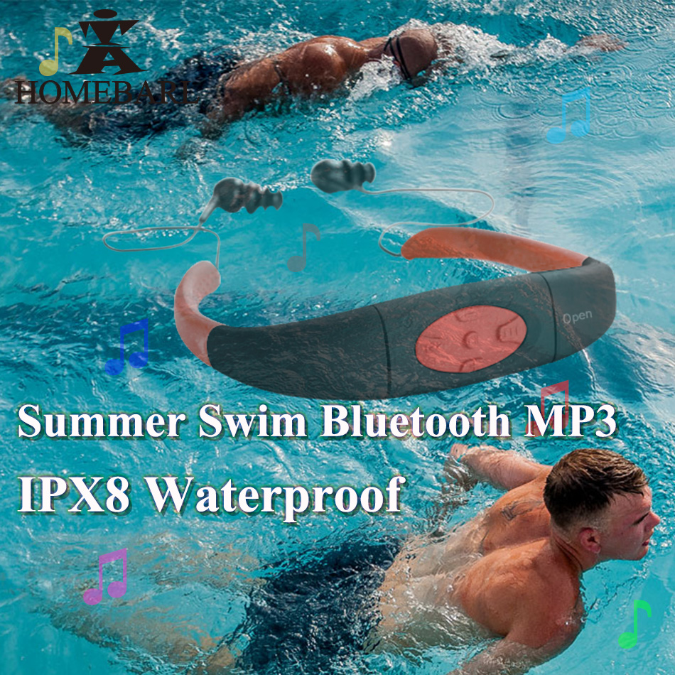 цена на IPX8 Waterproof ( 268 bluetooth 4.0 ; 168 4GB 8GB MP3 Player FM Radio ) Swimming Diving Underwater Sport Stereo Earphones Music