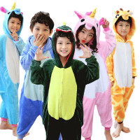 2017 Baby Boys Girls Unicorn Panda Children Flannel Kiguruma Animal Pajamas Kids Pajama Onesies Children Sleepwear