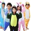 2017 Baby Boys Girls Unicorn Panda Children Flannel Kiguruma Animal Pajamas Kids Pajama Onesies Children Sleepwear