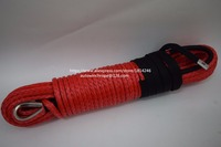 Red 5 16 100ft Synthetic Winch Rope Replacement Synthetic Rope For Winch Off Road Rope Winch