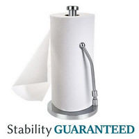Homdox Modern Stainless Steel Simplytear Standing Removable Roll Paper Towel Holder