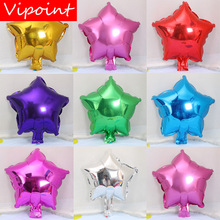 VIPOINT PARTY 10inch gold red green blue pink star foil balloons wedding event christmas halloween festival birthday party HY-17