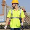 Ce EN471 ANSI / mar 107 AS / NZS de alta visibilidade de segurança vestuário de segurança workwear camisa pólo reflexivo roupas de segurança