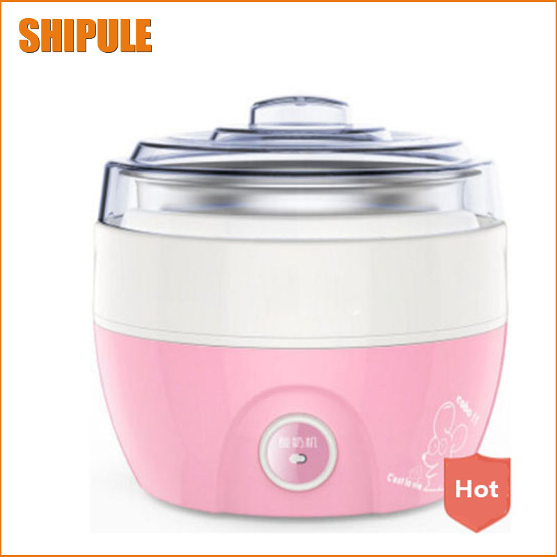 household automatic yogurt machine 1L Electric Automatic Yogurt Maker Stainless Steel Liner Container Household Yogurt Machine cukyi household electric multi function cooker 220v stainless steel colorful stew cook steam machine 5 in 1