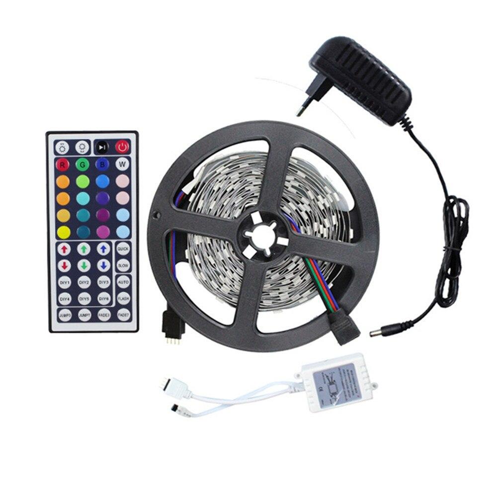 Led flexible strip light 5050 DC12V 5M 150leds + 44Key IR remote controller(only for RGB) +12V 2A Power adapter EU US UK AU plug