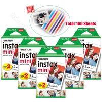 100 sztuk oryginalna Fujifilm Instax Mini 9 natychmiastowa biała folia do 9 7s 8 10 20 25 50s 50i kamera i udział Smartphone drukarka SP 1 SP 2 w Film od Elektronika użytkowa na