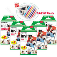 100pcs Genuine Fujifilm Instax Mini 9 Instant White Film for 9 7s 8 10 20 25