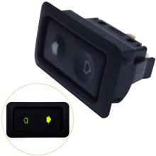 Электрический стеклоподъемник для всех автомобилей, зеленый светодиодный светильник, автомобильный кнопочный переключатель 12 В/24 В, автомобильные аксессуары