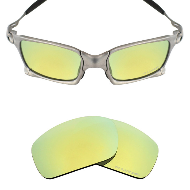 6dbdfcf3ff Mryok+ POLARIZED Resist SeaWater Replacement Lenses for Oakley X Squared  X-Metal Sunglasses 24K Gold