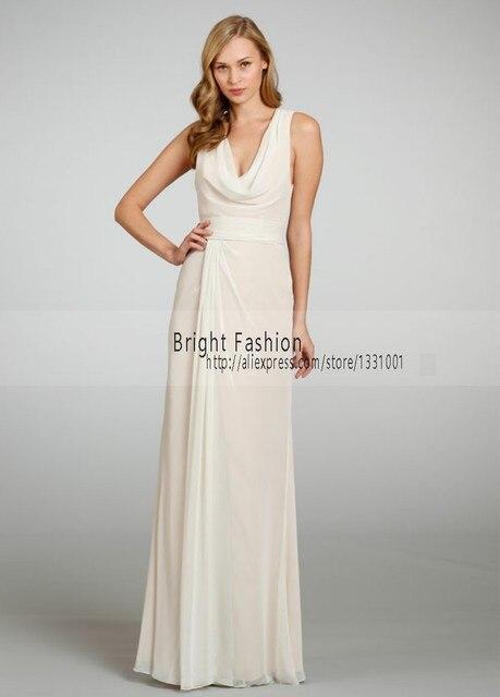 2016 griechische Göttin Kleid Frauen Chiffon Brautjungfer Kleider ...
