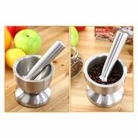 Stainless Steel Small Mortar Pestle Bowl Cinnamon Chocolate Mills For Cheese Garlic Ginger Salt Pepper Nutmeg