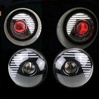 7 Круглый H4 45 Вт светодиодный фар море светодиодный луч штекер в игре красный демон глаз drl проектор светодиодный Фары для автомобиля для Jeep