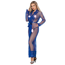 Pajamas For Women Sexy lingerie Erotic Lingerie Sleepwear 4 Colors Delicate Lace Long Sleepwear Gown Plus Size R80507