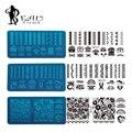 1 pcs 2016 Nova Chegada de Renda Preta Flor Placas Prego Carimbar Placas de Aço Inoxidável Nail Art Stamp Template Manicure Prego ferramentas