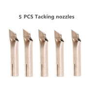 5 PCS Tacking nozzles for hot air gun vinyl floor welding tools nozzle tips plastic fabrication welding gun heat gun Accessories