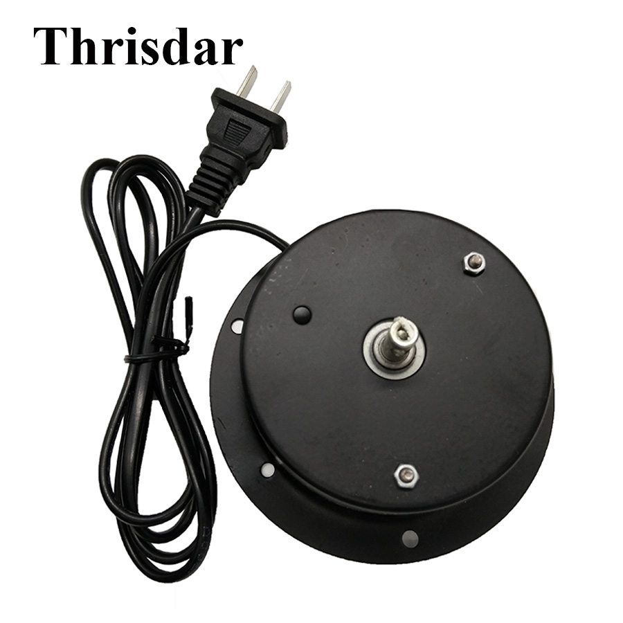 Thrisdar 1.5 RPM Rotating Glass Mirror Ball Motor With EU Plug Hanging Mirror Ball Motor For Family DJ Disco Party KTV Club