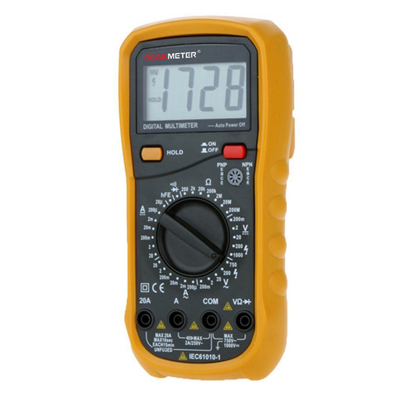 HHTL-PEAKMETER MY65 2000 Counts Digital Multimeter DC/AC Voltage Current Resistance Capacity Frequecny Tester Ammeter Multites mt 1280 c 3 1 2 digital multimeter dc ac voltage current capacity resistance tester beep ammeter multitester temperature
