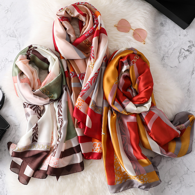 REALSISHOW Scarves Women Winter Scarf 2019 Spring Fashion Silk Scarf Long Ladies Designer Luxury Shawls and Wraps in Women 39 s Scarves from Apparel Accessories